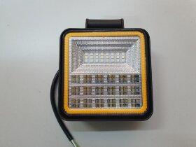 Фара противотуманная квадратная дальний свет 40LED с желтой подсветкой