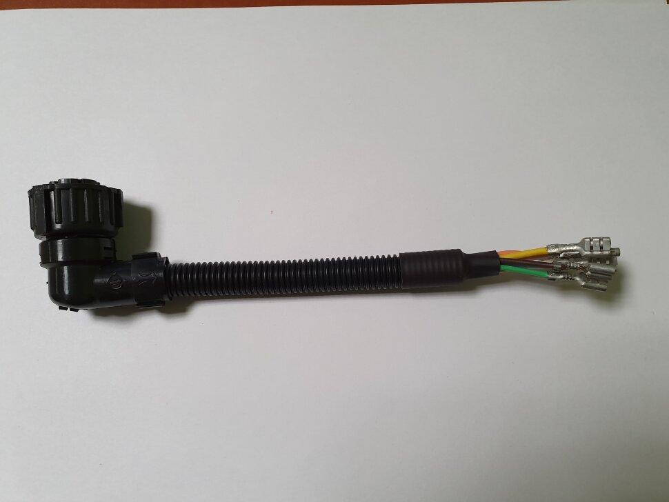 Разъём байонет AMP 7-pin мама собранный угловой