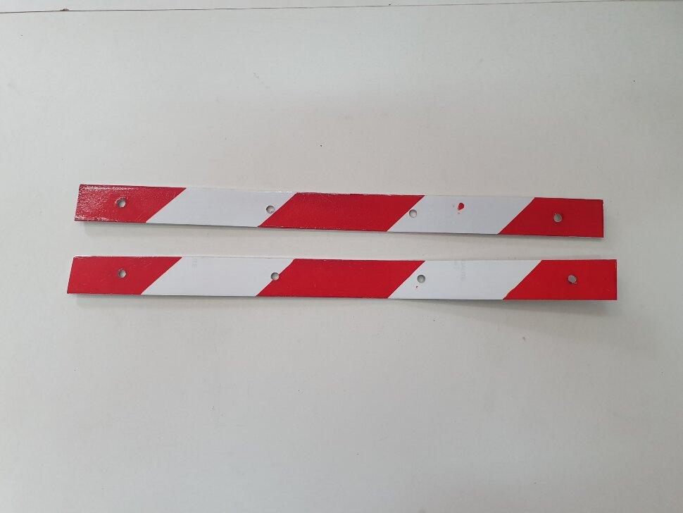 Планка для крепления брызговика светоотражающая 400x30 комплект 2шт.