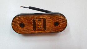 Фонарь габаритный желтый LED 110*40 скругленный