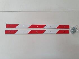 Планка для крепления брызговика светоотражающая 520x30 комплект 2шт.