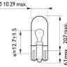 Лампочка 24V W5W W2,1x9,5d приборная