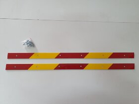 Планка для крепления брызговика светоотражающая 650x30 комплект 2шт.