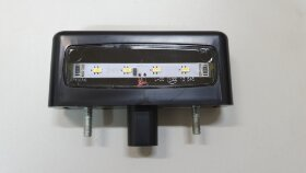 Фонарь освещения номерного знака EURO черный LED
