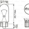 Лампочка 24V 3W W2,1x9,5d приборная