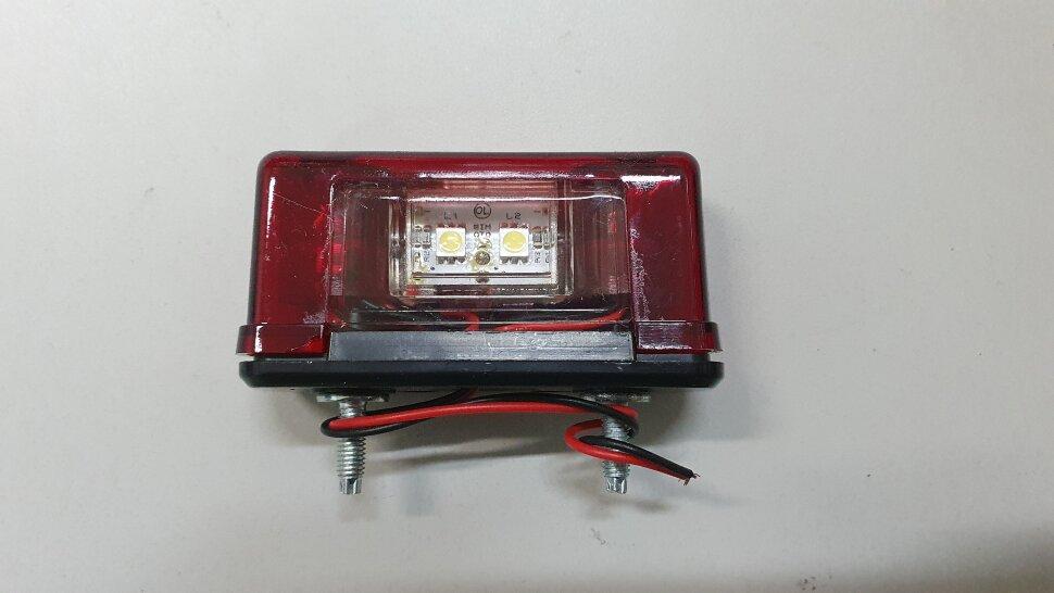 Фонарь освещения номерного знака EURO красный LED