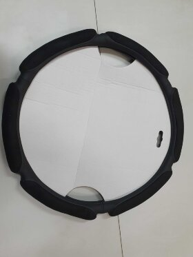 Оплетка на руль 49-51см широкая, черный спонж