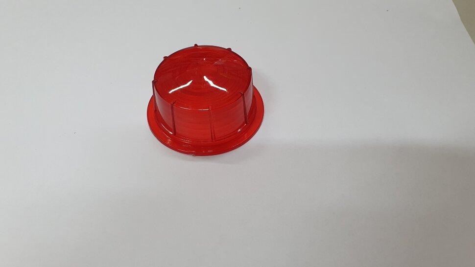 Стекло бокового габарита прицепа красное E103