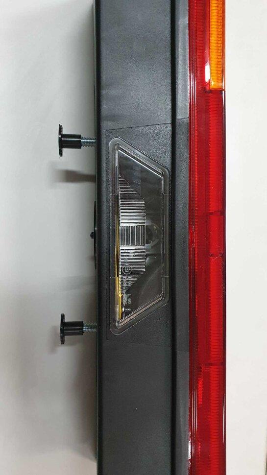 Фонарь задний MB 6-секционный белый скраю левый с разъёмом сбоку