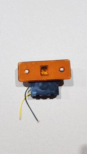 Фонарь габаритный желтый LED с кронштейном