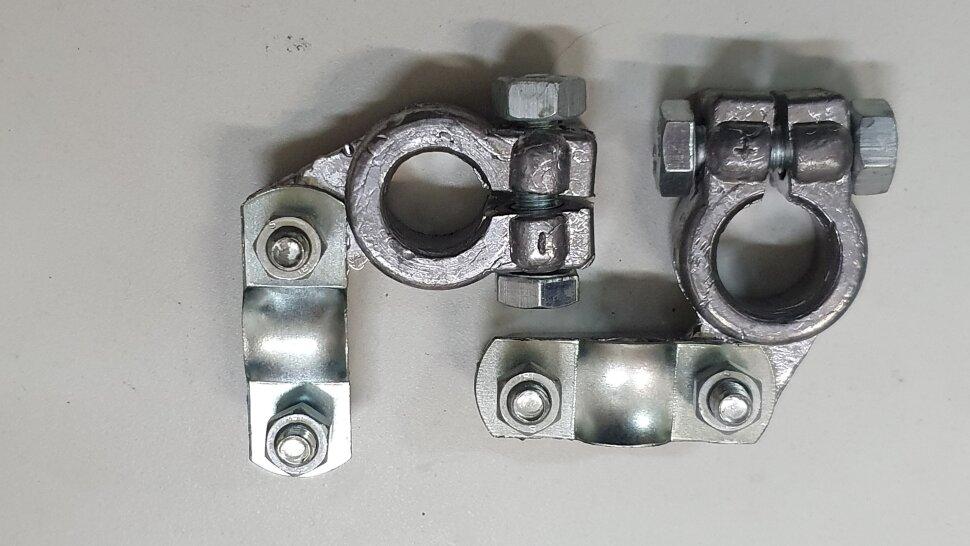 Комплект усиленных свинцовых угловых клемм (2шт)