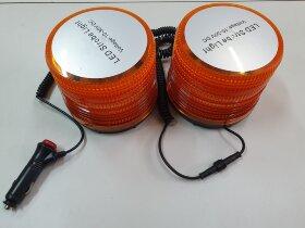 Маячок оранжевый LED стробоскоп двойной H=115 D=130