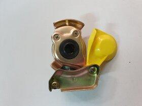 Пневматическое соединение желтое с клапаном M16