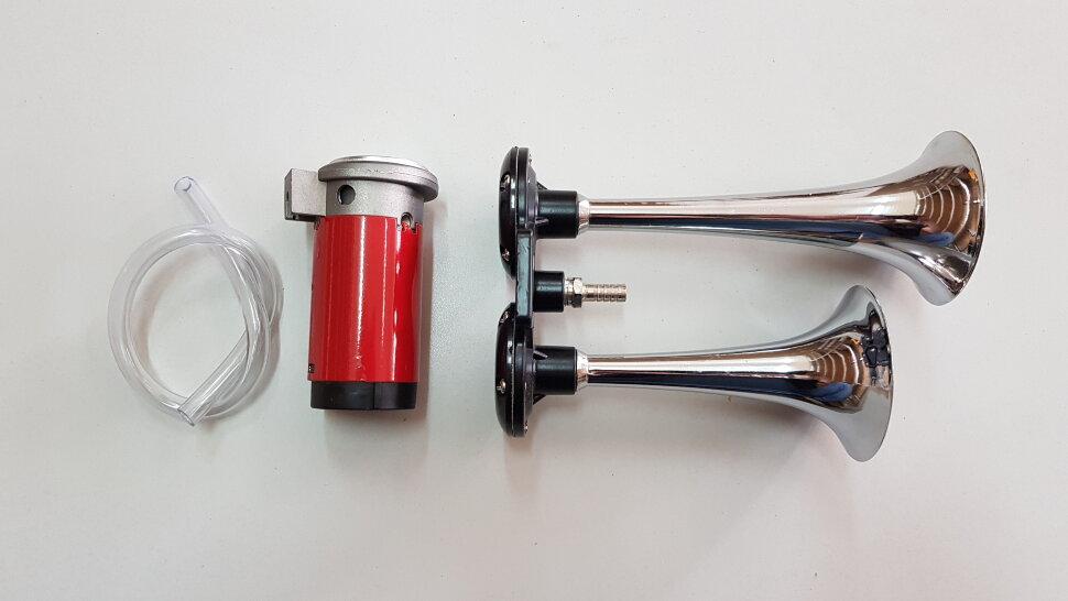 Сигнал пневматический двухрожковый L=230mm с компрессором