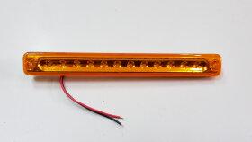 Фонарь габаритный желтый L=180 12LED