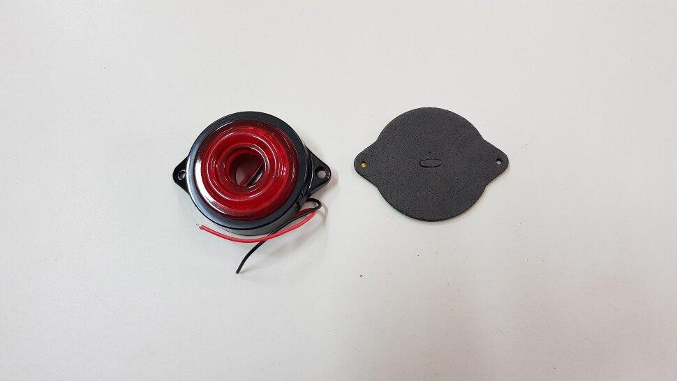 Фонарь габаритный красный 6LED