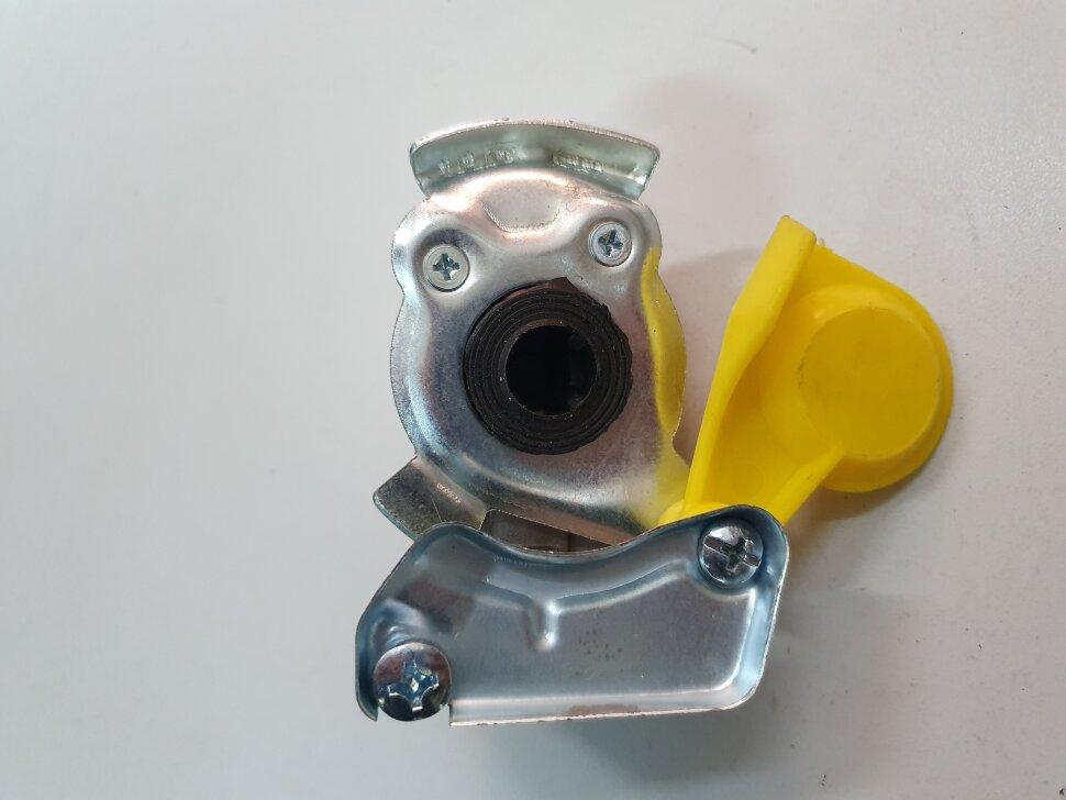 Пневматическое соединение желтое с клапаном M22