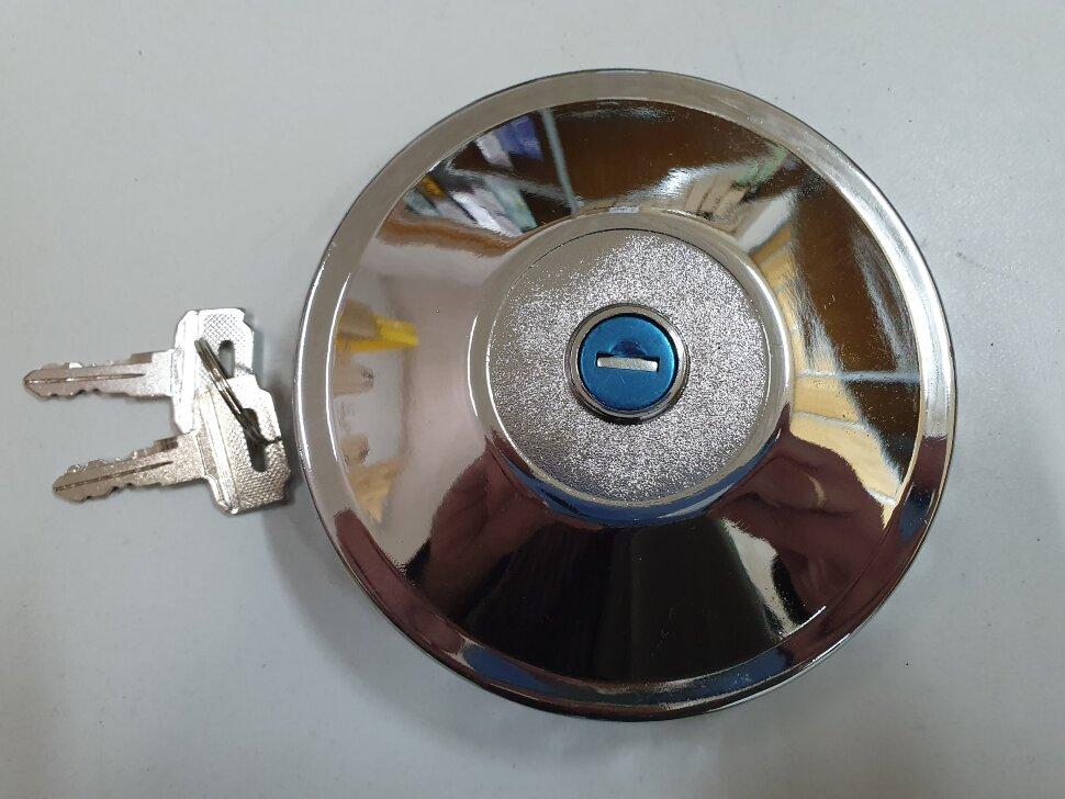 Крышка топливного бака D=80 метал. с ключами
