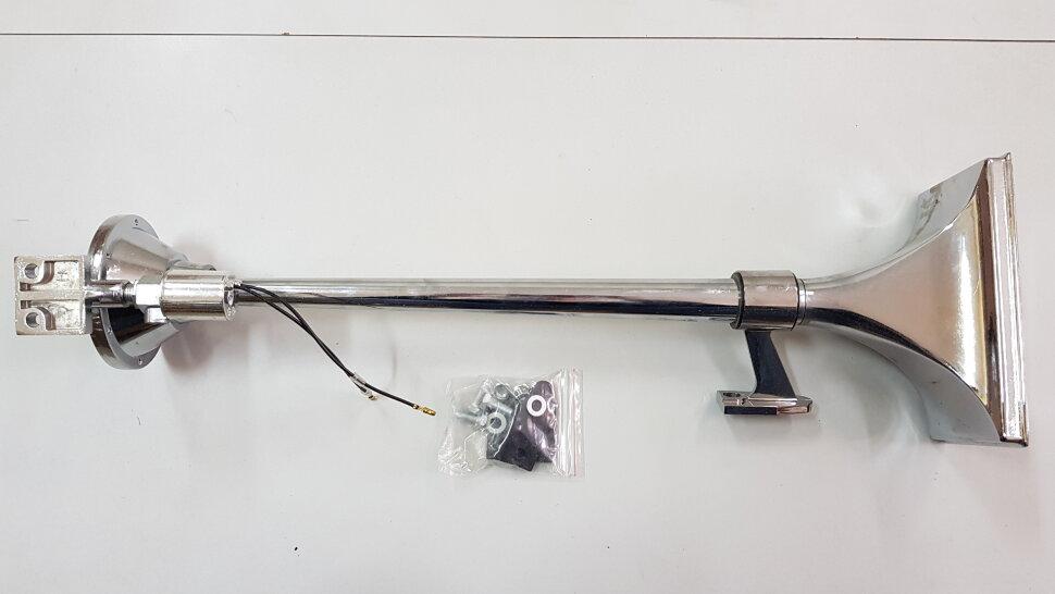 Сигнал пневматический однорожковый прямоугольный L=630mm с защитой