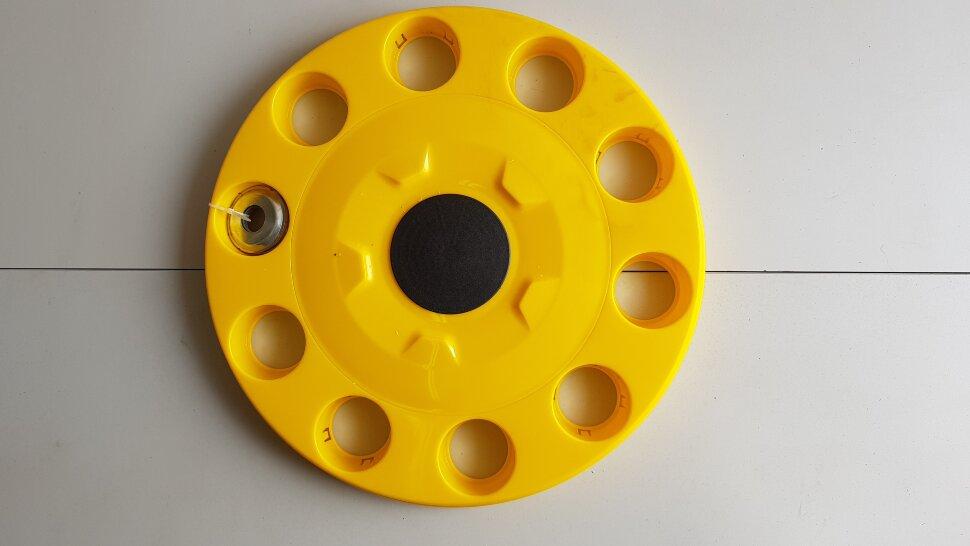 Колпак колеса 22,5 на евродиск передний желтый закрытый