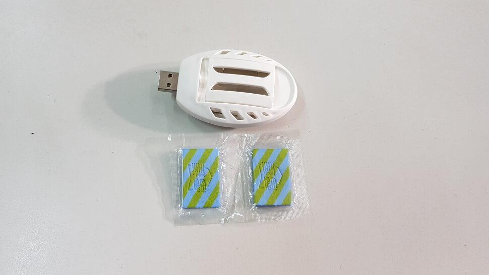 Фумигатор от комаров под пластину с разъемом USB белый