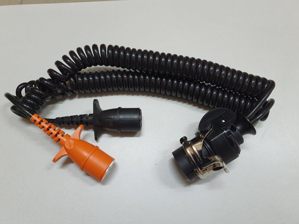 Электрический кабель-переходник прицепа ABS 15pin => 7pin Type-N + Type-S
