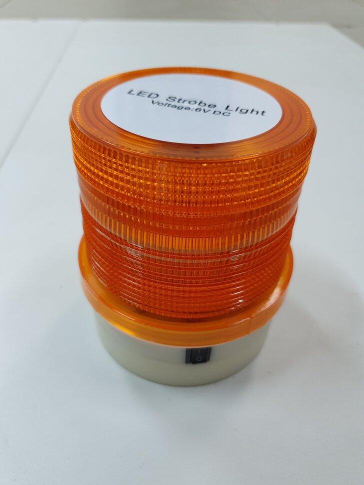 Маячок проблесковый оранжевый LED36 стробоскоп автономный H=120 D=95