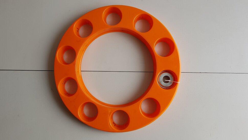 Колпак колеса 22,5 на евродиск передний оранжевый, ободок