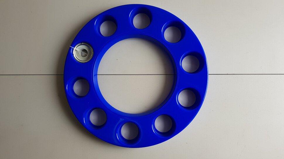 Колпак колеса 22,5 на евродиск передний синий, ободок