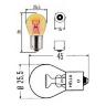 Лампа 24V P21W BAU15s оранжевая