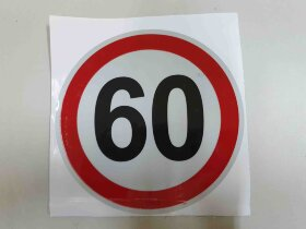 Наклейка ограничение скорости 60