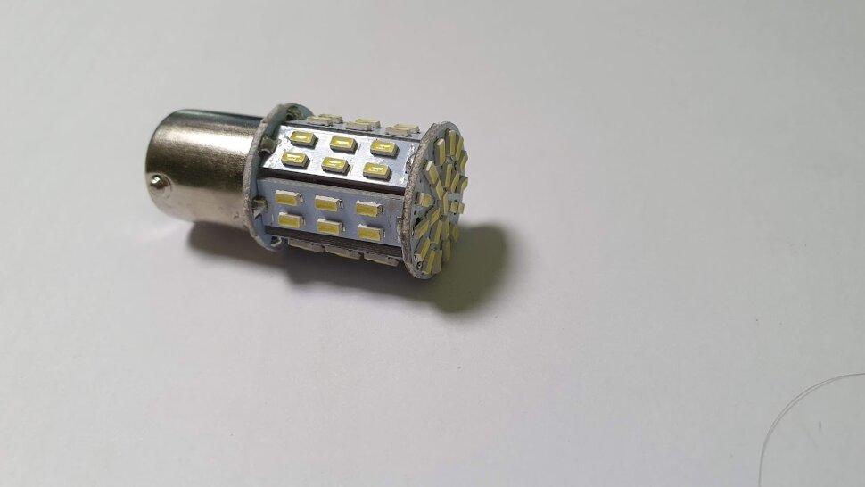 Лампа 24V R5W BA15s 64LED кукуруза