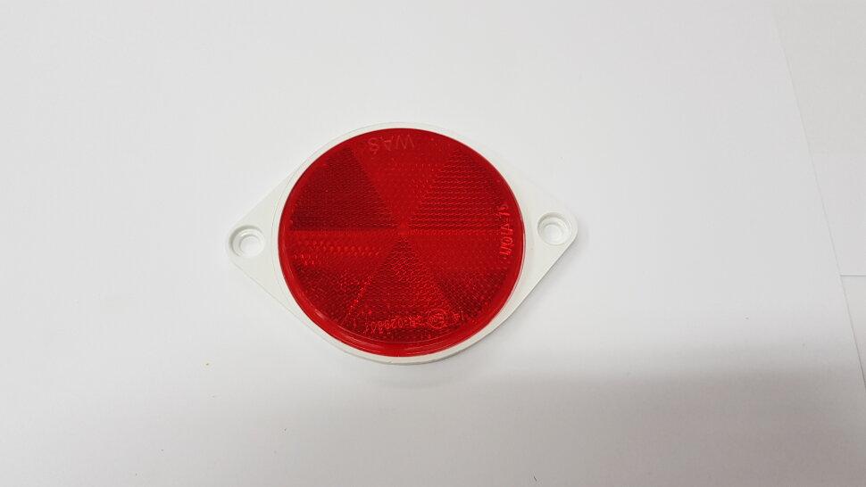 Светоотражатель круглый красный на болтах
