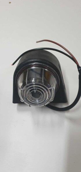 Рог прицепа короткий треугольный 70мм LED комплект