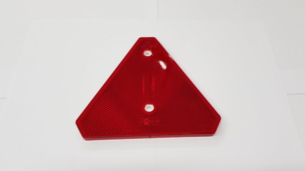 Светоотражатель треугольный красный на болтах