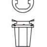 Лампочка 24V W1,2W B8,5d LED приборная белая