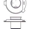 Лампа 12V H4 60/55W P43t