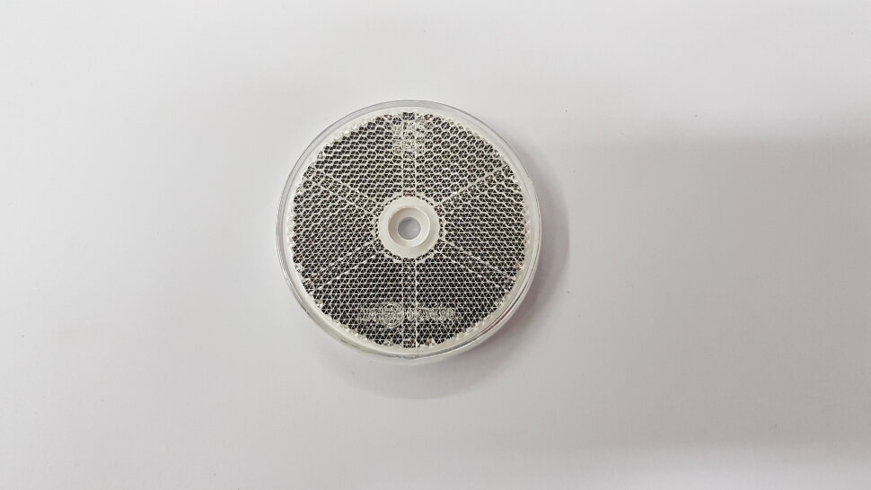 Светоотражатель круглый белый на липучке