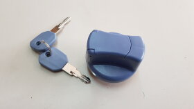 Крышка бака AdBlue D=40 пластик синяя, с ключами и защитой
