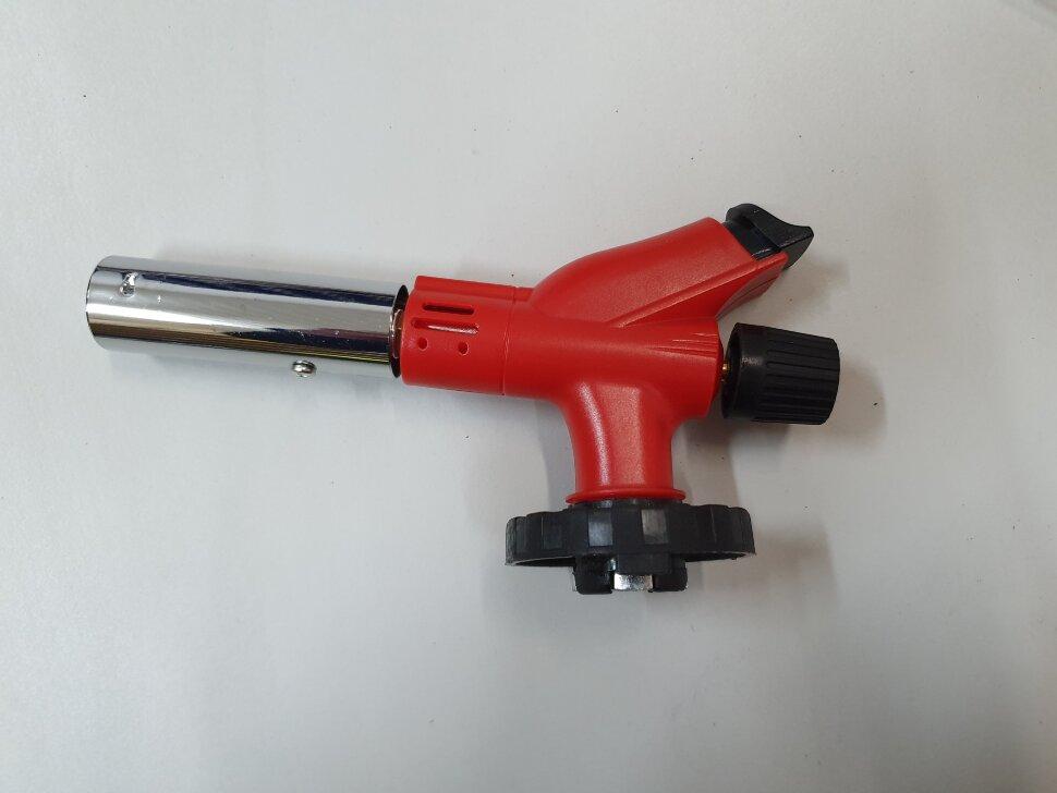 Газовая горелка с пьезоподжигом красная