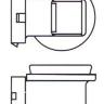 Лампа 12V H8 PGJ19 угловая
