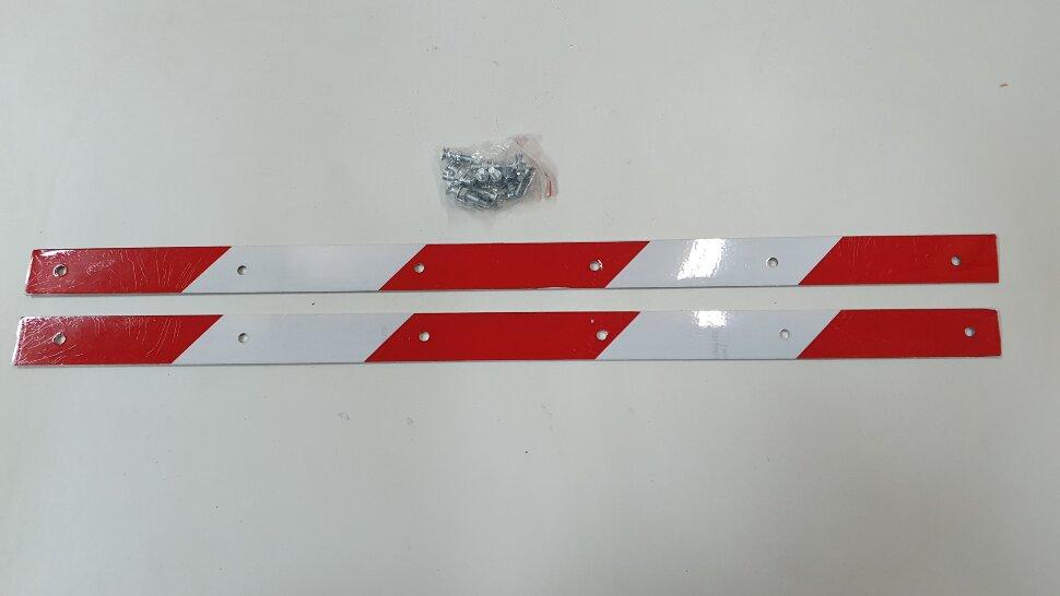 Планка для крепления брызговика светоотражающая 580x30 комплект 2шт