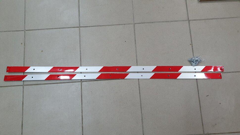 Планка для крепления брызговика светоотражающая 1200x30 комплект 2шт