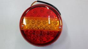 Фонарь задний 3-секционный круглый d=140 LED