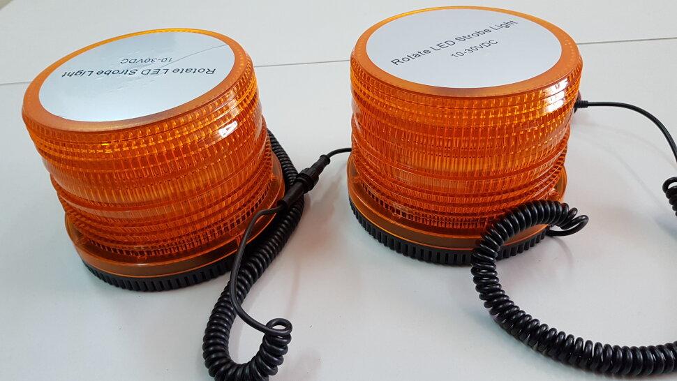 Маячок оранжевый LED стробоскоп двойной H=120 D=145
