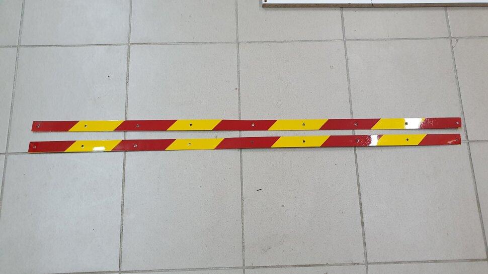 Планка для крепления брызговика светоотражающая 1200x30 комплект 2шт желтая полоска