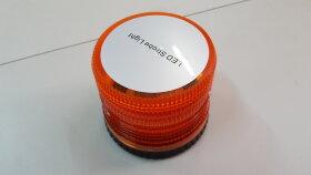 Маяк проблесковый автономный оранжевый LED стробоскоп H=115 D=130