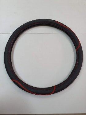 Оплетка на руль 44-46см красная вышивка