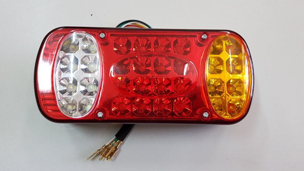 Фонарь задний 3-секционный овальный LED