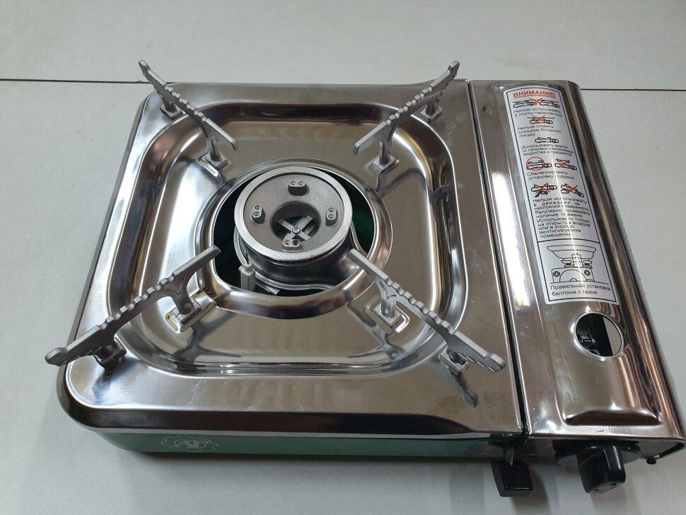 Портативная газовая плита с переходником нержавейка